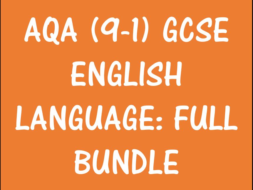 AQA (9-1) GCSE English Language - Full Help and Examples