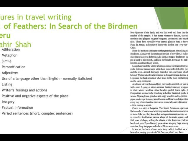 Travel Writing - GCSE/A LEVEL