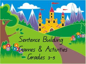 Sentence Building Games & Activities for Middle School - Castle Theme