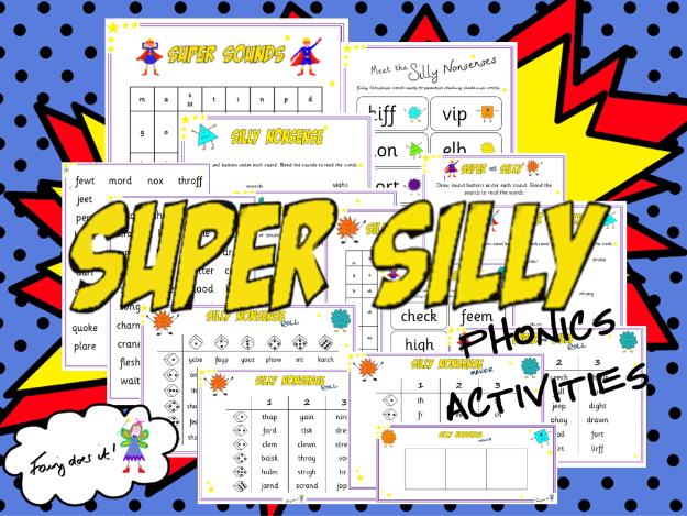 Super Silly Phonics Activities - Phonics Screen Preparation Aid