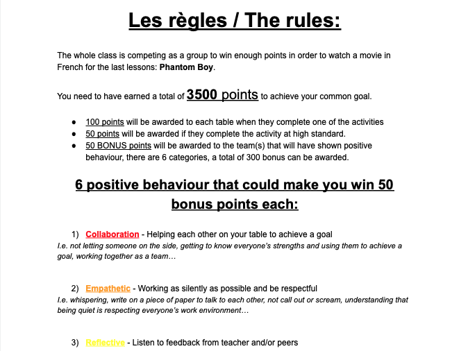 French Full lesson - Activities (translation, reading, grammar, writing) Revision festivals
