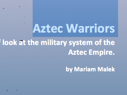 Aztec Warriors (Informational Worksheet)
