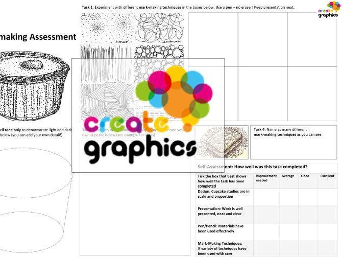 KS3 Art & Design A3 Practical Assessment sheets x3