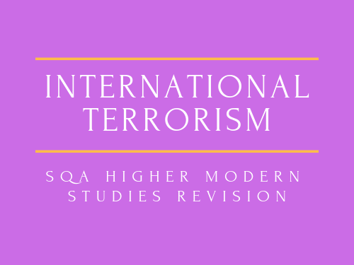 SQA Higher Modern Studies International Issues Revision Booklet Task