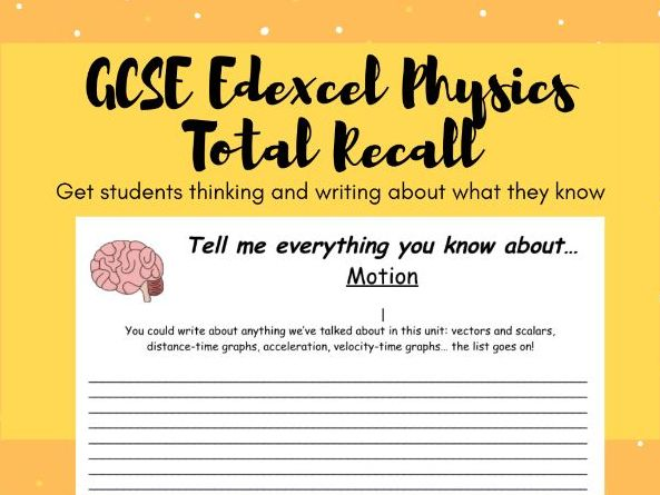 GCSE Edexcel Physics (Combined) Total Recall Revision
