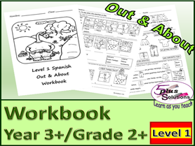 PRIMARY SPANISH YEAR 3+/GRADE 2+ COPIABLE WORKBOOK: Weather, Seasons, Clothes