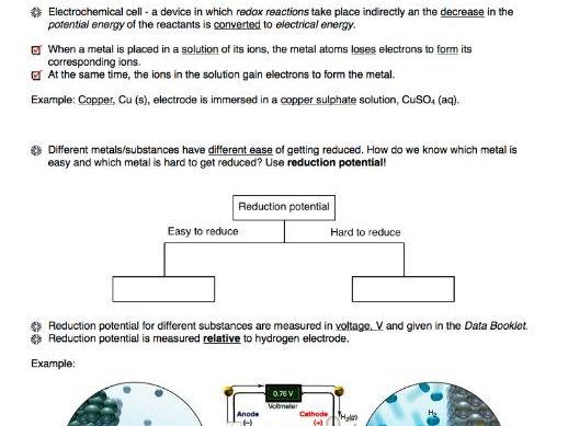 Complete Electrochemistry Handout