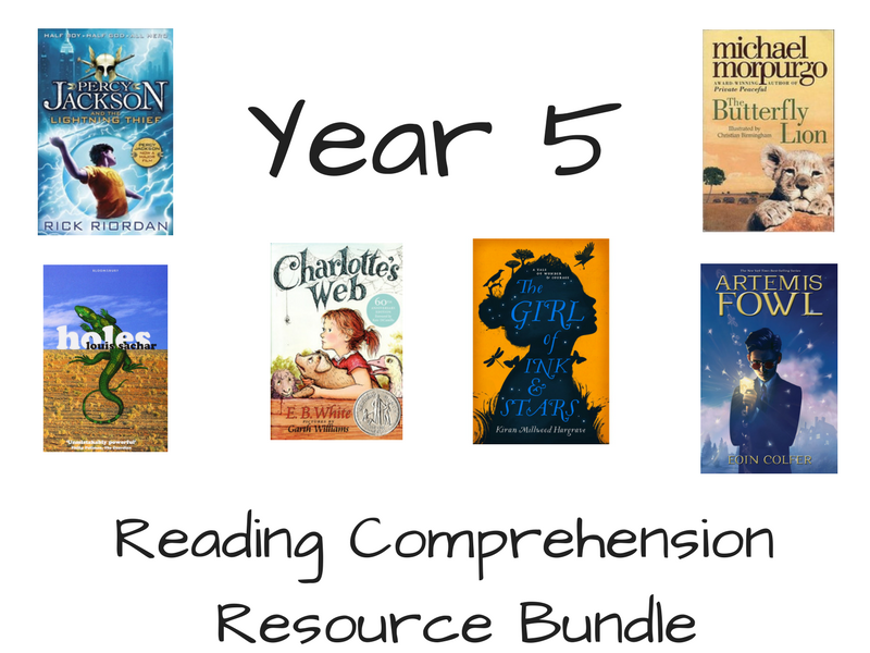 Year 5 Reading Comprehension Bundle