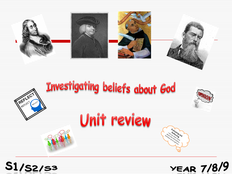 Investigating beliefs about God Unit review