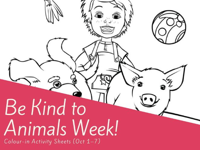 Be Kind to Animals Week Colour-In Activity Worksheets