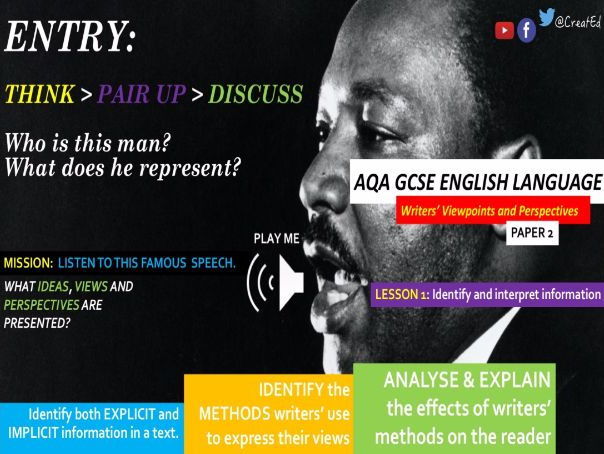 New GCSE English Language, FULL COURSE Paper 2: Writers' Viewpoints, A:Reading & B:Writing Skills