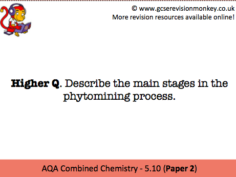 Revision Cards - AQA Combined Chemistry 5.10