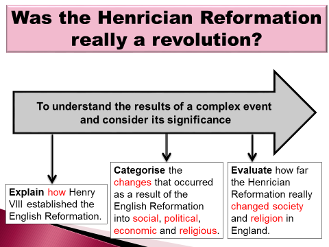 The English Reformation-Was it a 'revolution'?