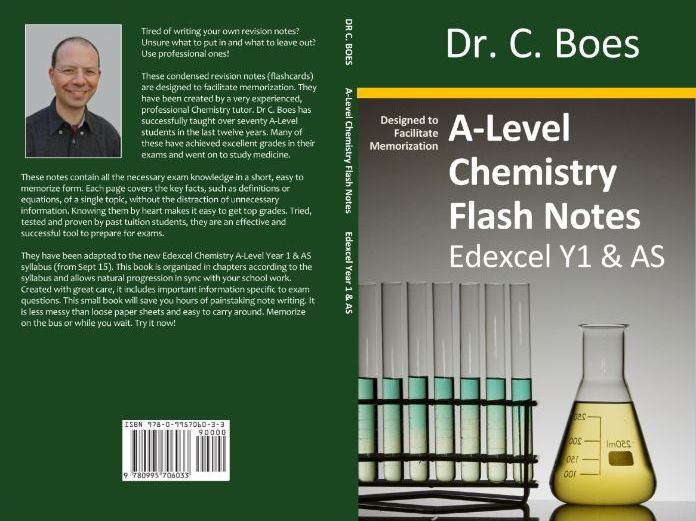 SAMPLE: Edexcel A-Level Chemistry Condensed Revision Notes (Flashcards) Y1/AS