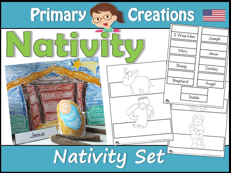 Christmas Nativity Preschool to Kinder Craft Set (USA Edition)