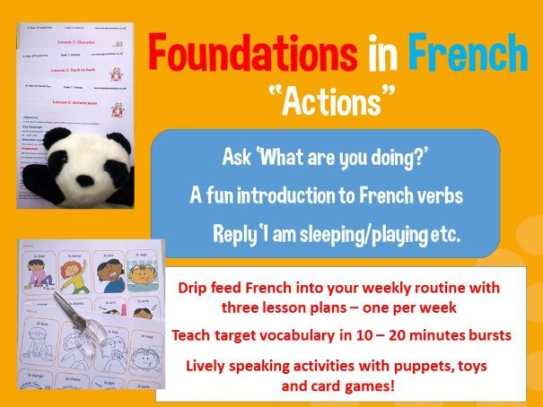 French verbs - French basics - 3 lesson plans bundle