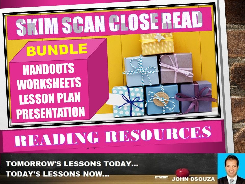 SKIMMING SCANNING READING BUNDLE