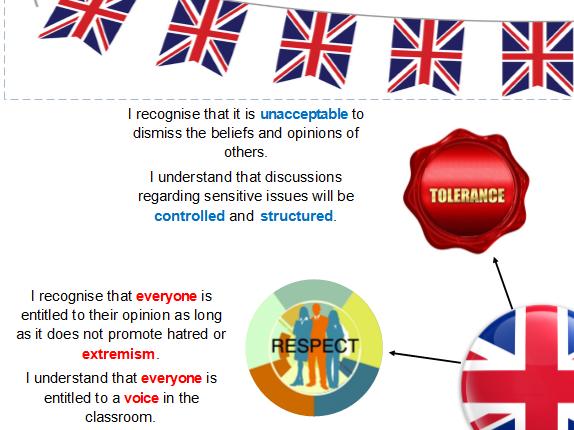 British Values poster