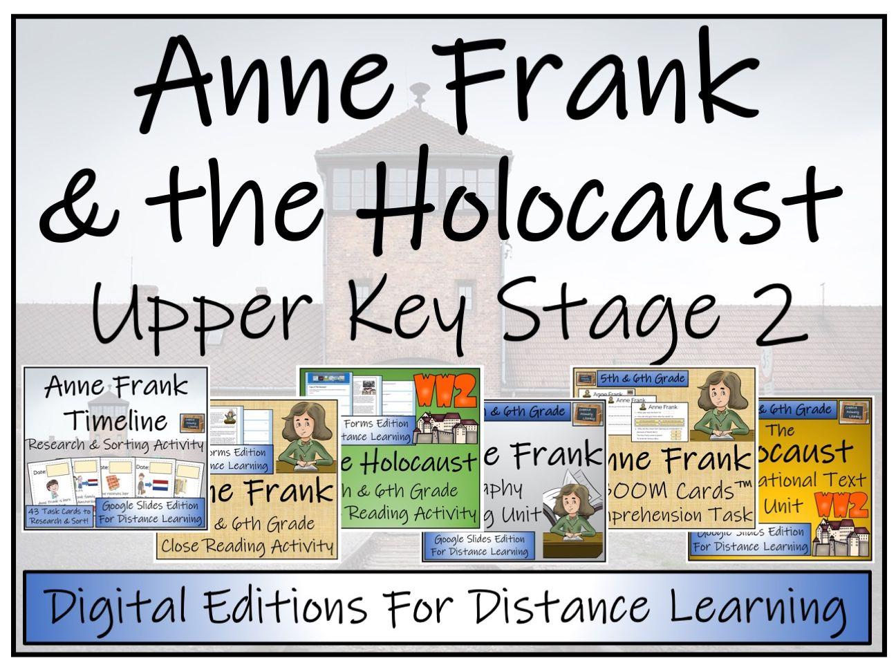 UKS2 The Holocaust & Anne Frank Bundle Digital & Print