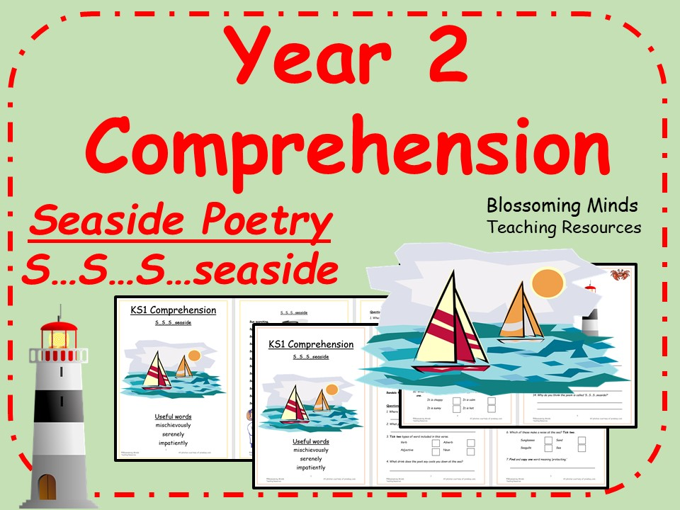 Seaside Poetry Comprehension Booklet - Year 2
