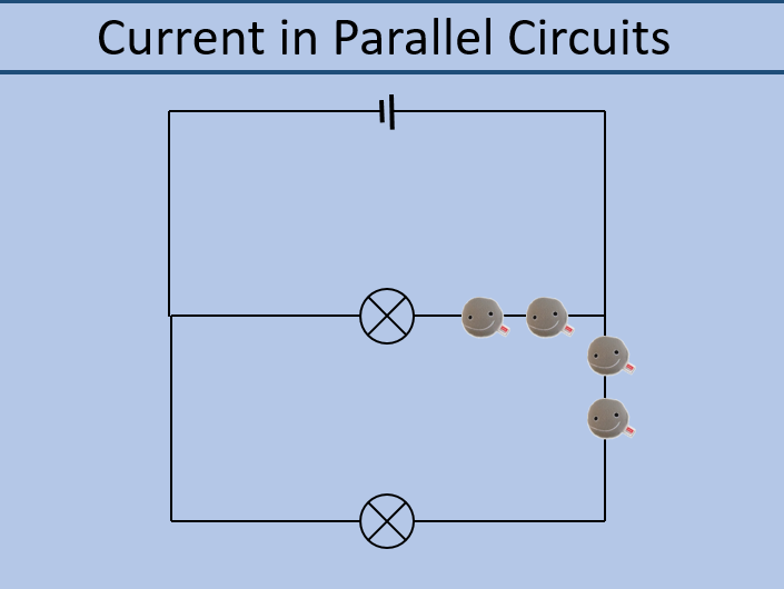 Current around series and parallel circuits