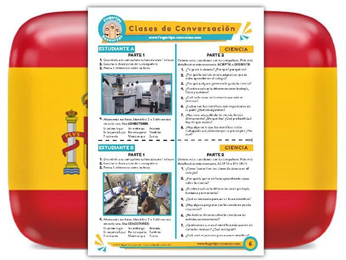 Ciencia - Spanish Speaking Activity