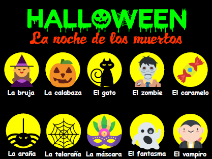 Halloween - Booklet of activities for Spanish lessons