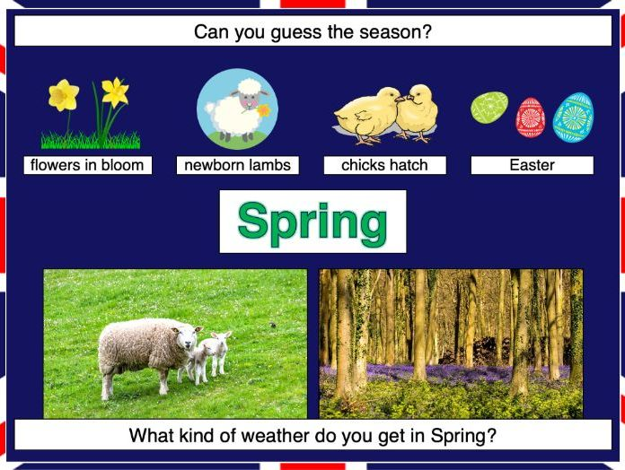 Identifying the four seasons of weather in the UK