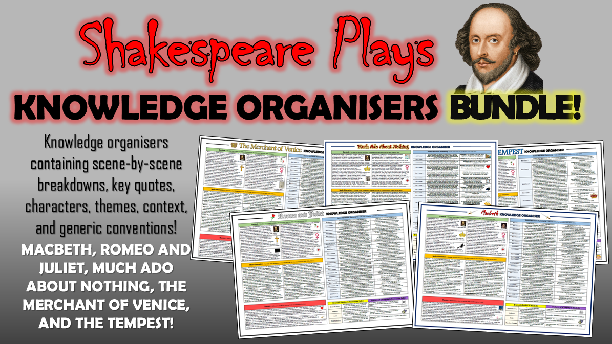 Shakespeare Plays Knowledge Organisers Bundle!