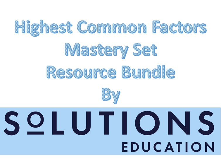 Highest Common Factors Mastery Set