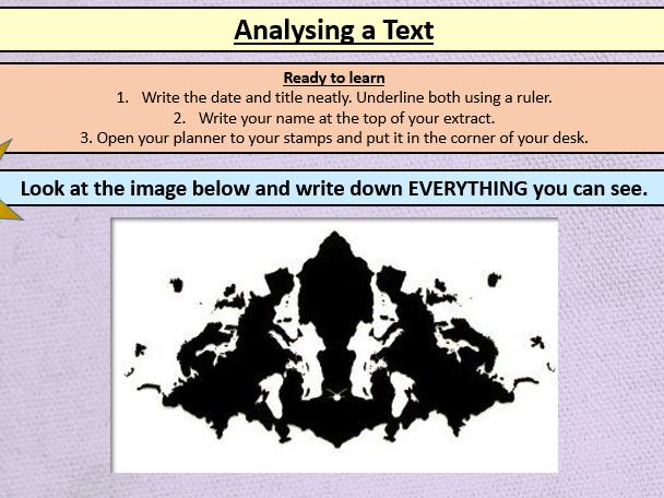 Analysing Language KS3 - Bleak House
