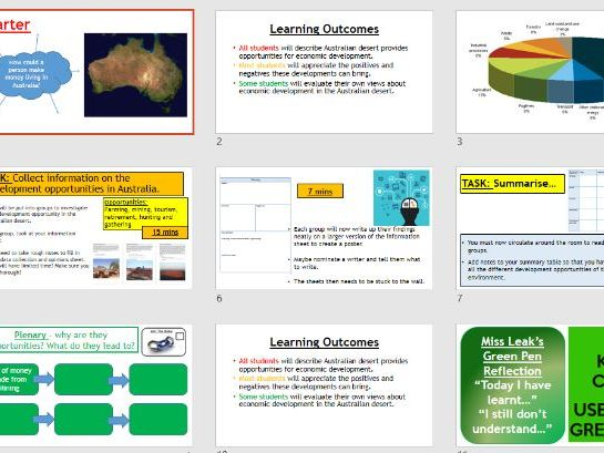 Place study - Opportunities in Australia (Lesson and resources).