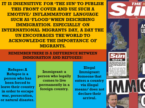 EDUQAS YEAR 11: NEWSPAPERS, LESSON 49-52 = MEDIA LANGUAGE IN 'THE SUN' AND 'THE GUARDIAN'