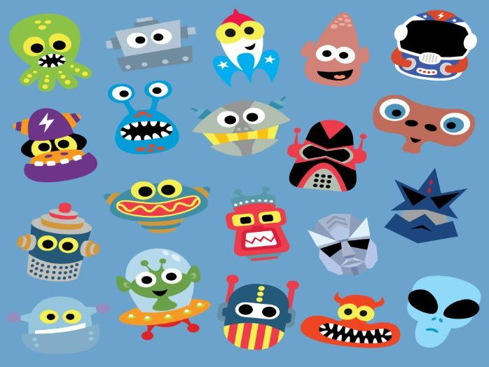 Printable Robots & Aliens Masks