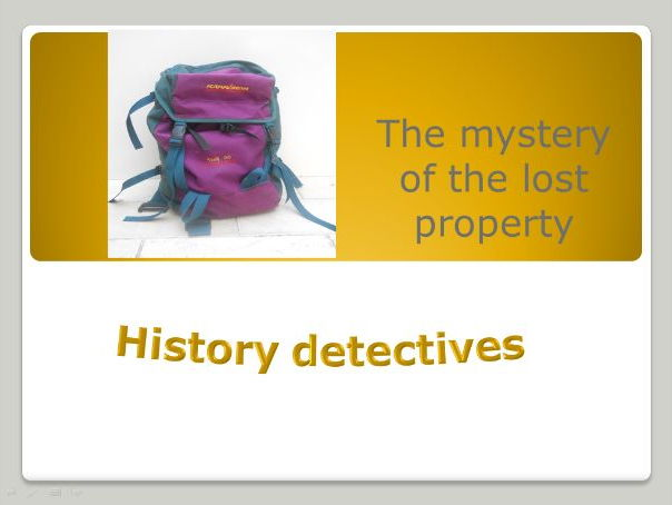 History detectives - KS1 Mystery powerpoint lessons (2)