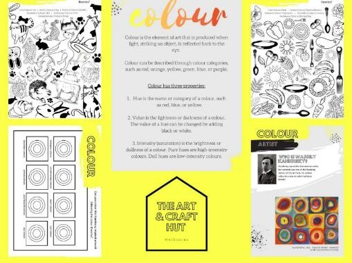12 Page Colour Theory Activity & Colouring-In Booklet | Appropriate For At Home Learning | Printable