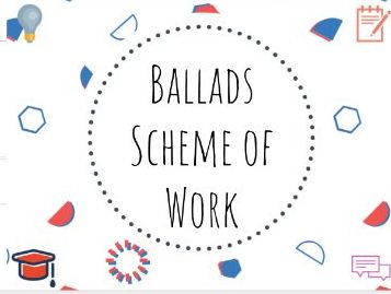 Ballads scheme of work #ballads #GCSE #English #Literature #SOW #Scheme
