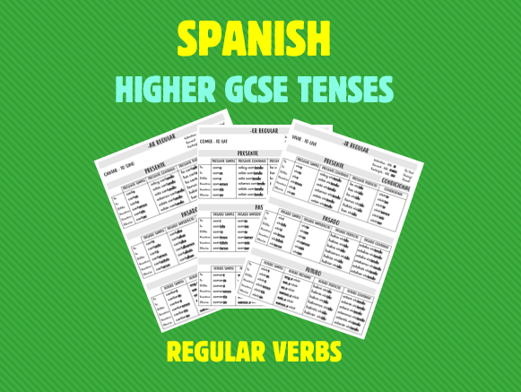 Spanish GSCE Higher Tense Revision