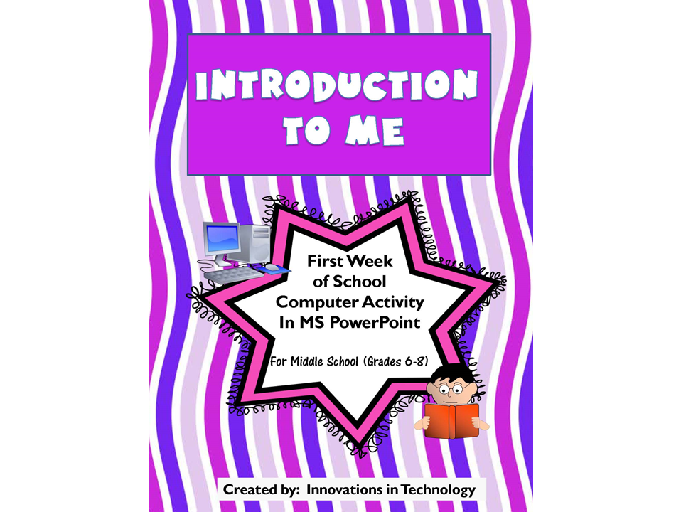 Introduction to Me - First Week of School PowerPoint Activity