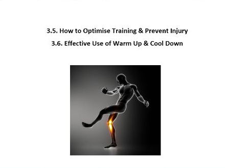 Edexcel GCSE PE 9-1. Optimise Training, Injury Prevention & Performance Enhancing Drugs Workbook.