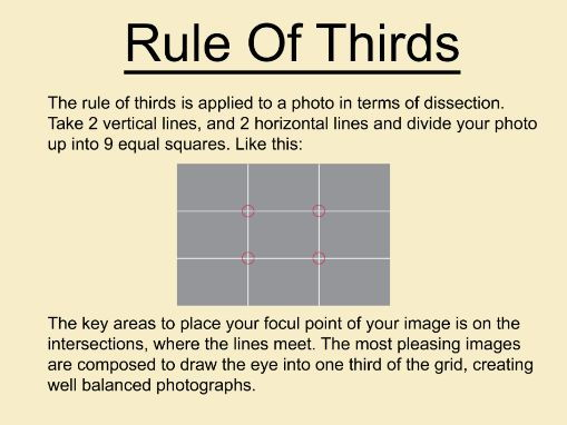 Art and Photography Rule of Thirds Poster