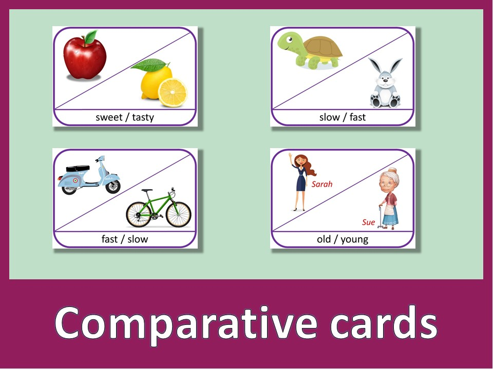 Comparative cards