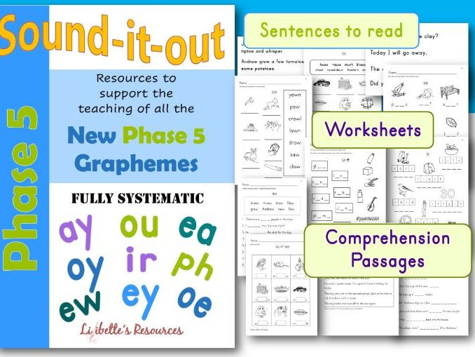 Phonic Worksheets for Phase 5 of Letters and Sounds