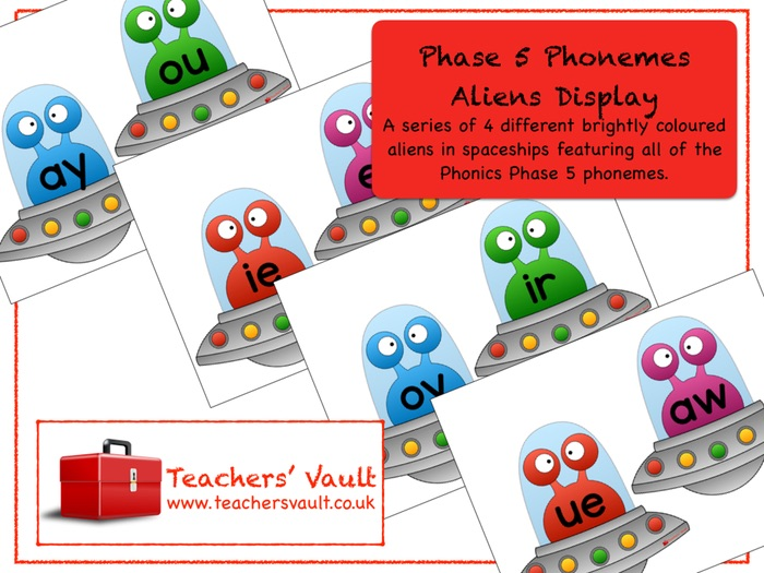 Phase 5 Phonemes Aliens Display