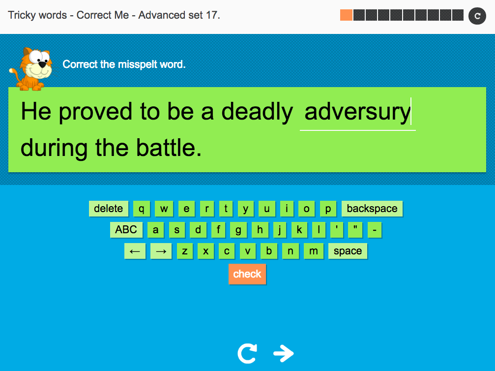 Tricky Words Spelling Interactive Exercise 17 - Advanced Level - Year 6