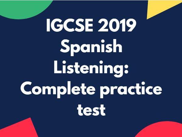 IGCSE Spanish: Complete listening practice test (2019)