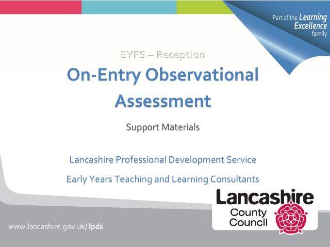 EYFS On-Entry Observational Assessment Booklet