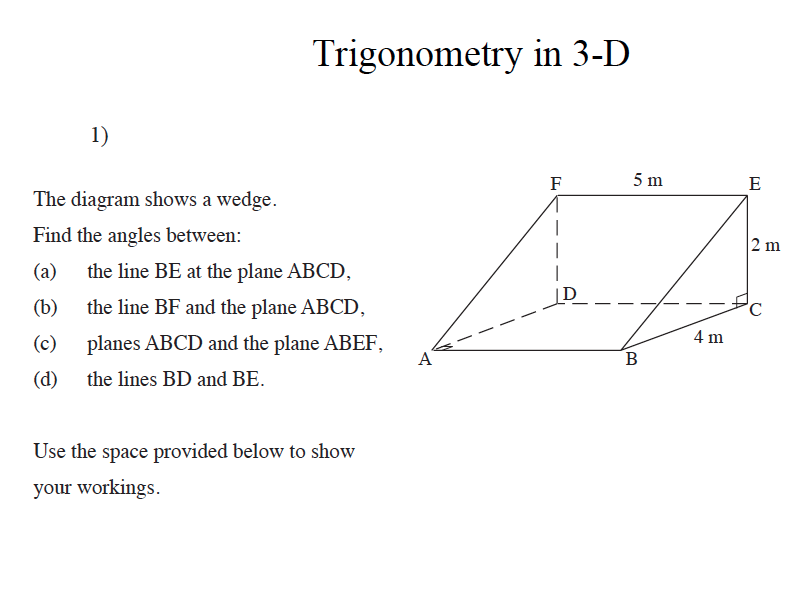 GCSE  Maths Revision Trigonometry in 3D