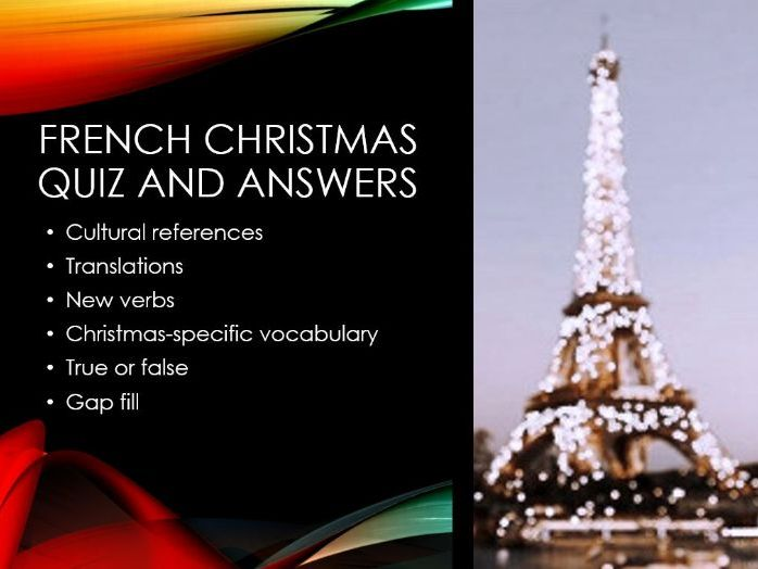French Christmas Quiz and Answers