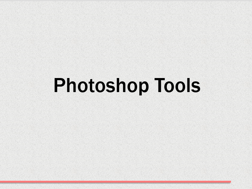 3) Photoshop Tools - Spot Healing and Clone Tool